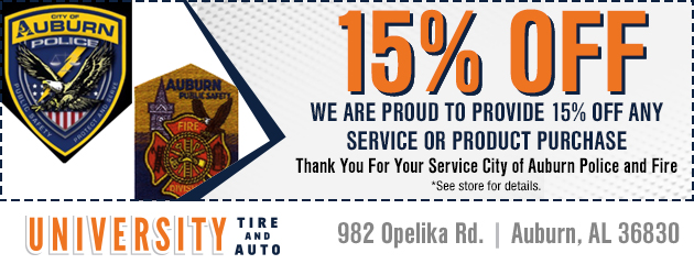 15% Off Police and Fire Discount