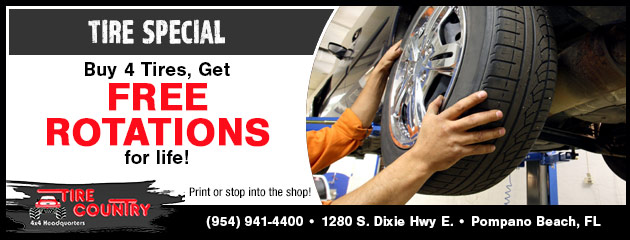Buy 4 Tires, Get Free Rotations for Life