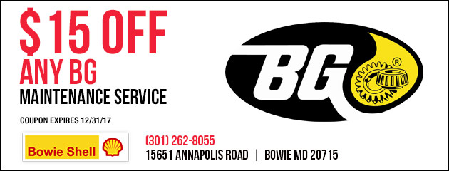 $15 Off Any BG Maintenance Service