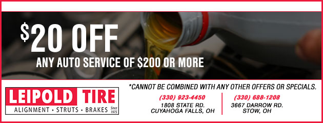 $20 Off Any Auto Service of $200 or more