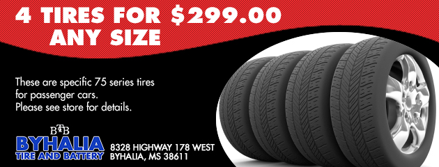 4 tires for $299.00