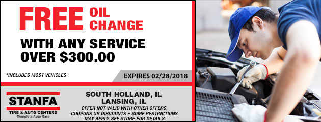 FREE Oil Change with any service over $300.00