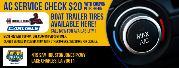 AC and Boat Trailer Tires Special