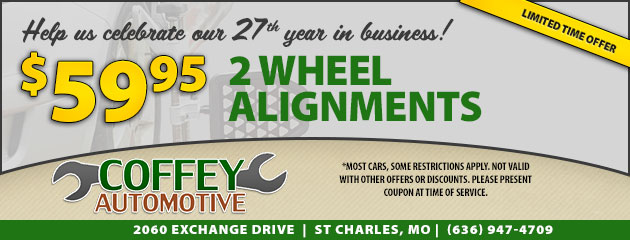 Help us celebrate our 27th year in business with this limited time offer!