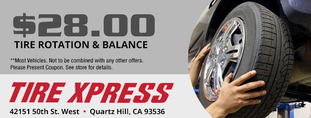$28 Tire Rotation and Balance Special