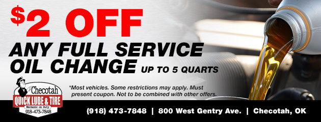 Save $2 on Any Full Service Oil Change