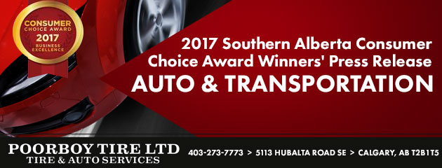 2017 Southern Alberta Consumer Choice Award Winners