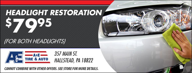 Headlight Restoration $79.95