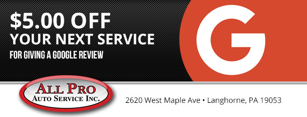 Please leave us a Google Review and receive $5 Off Your Next Service!