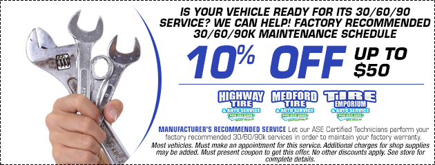 10% OFF 30/60/90 service