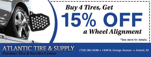 Buy 4 Tires, Get 15% Off a Wheel Alignment Special