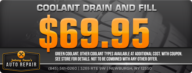 Coolant Drain and Fill $69.95
