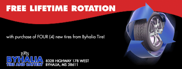 Free Lifteime Tire Rotation Special