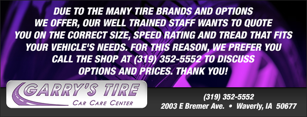 Call and Get a Tire Quote!