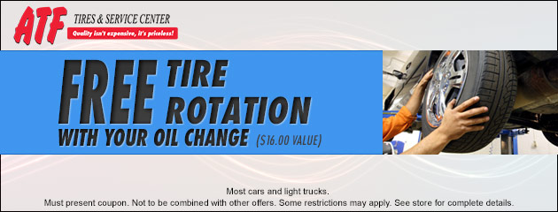 Free Tire Rotation with your Oil Change