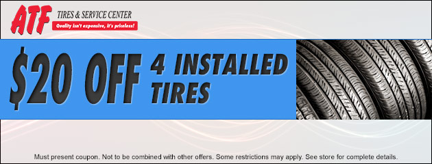 $20.00 Off 4 Installed Tires
