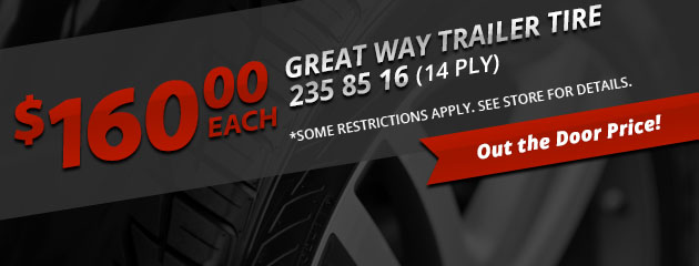 Great Way Trailer Tire Special