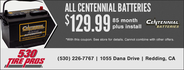 All Centennial Batteries 85 Month $129.99 plus install