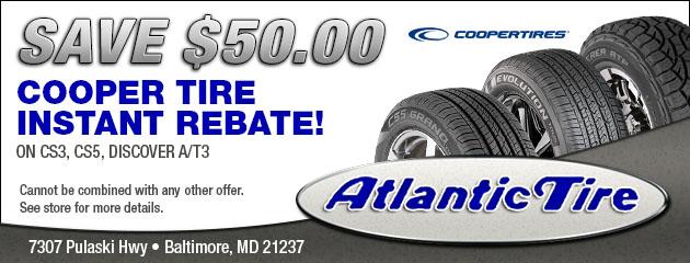 50 00 Cooper Tire Instant Rebate