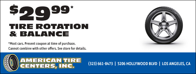 $29.99 Tire Rotation and Balance