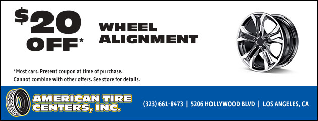 $20 Off Wheel Alignment