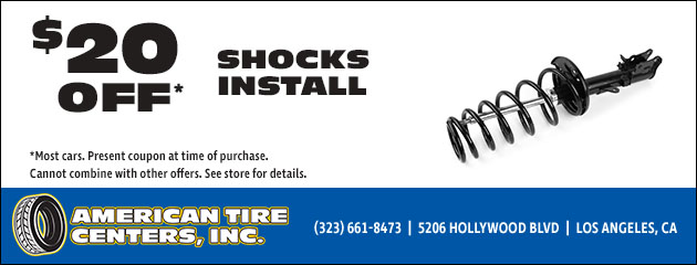 $20 Off Shocks Install