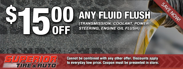 $15 Off Any Fluid Flush