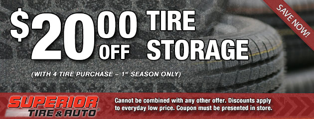 $20 Off Tire Storage Special