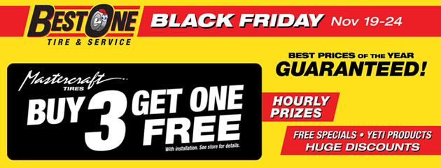 Black Friday Deal - Mastercraft Tires