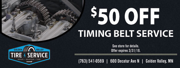 $50 off Timing Belt Service