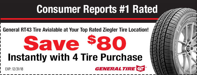 Save $80 Instantly With a 4 Tire Purchase