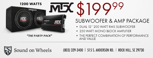 Subwoofer and AMP Package