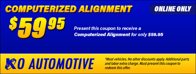 $59.95 Computerized Alignment Coupon