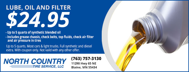 Lube, Oil and Filter $24.95