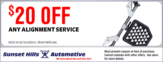 $20 OFF Any Alignment Service