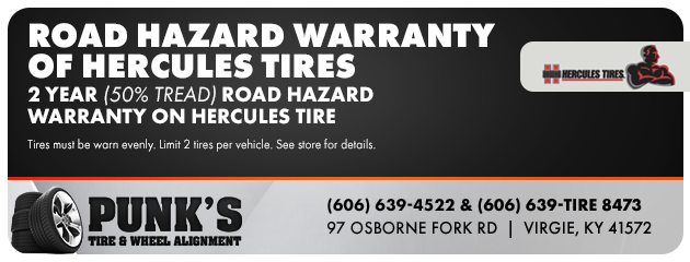 Road Hazard Warranty of Hercules Tires