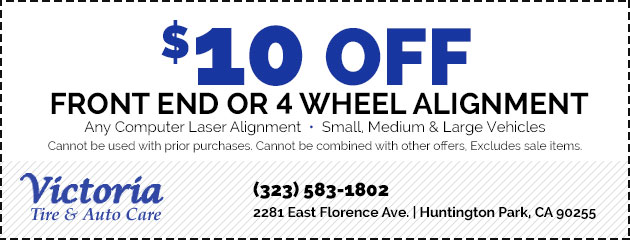 $10 Off Front End or 4 Wheel Alignment