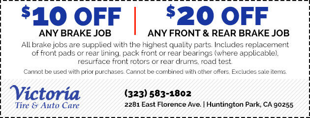 $10 Off Any Brake Job OR $20 Off Any Front & Rear Brake Job