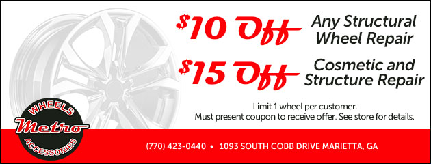 $10 OFF STRUCTURAL WHEEL REPAIR