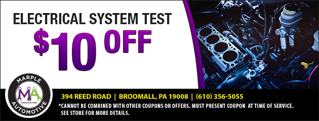 $10 Off Electrical System Test