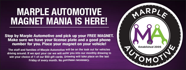 Marple Automotive Magnet Mania
