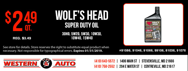 Wolf's Head Super Duty Oil Special