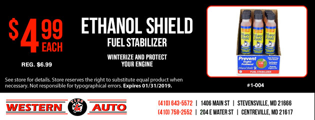 Ethanol Shield Fuel Stabilizer