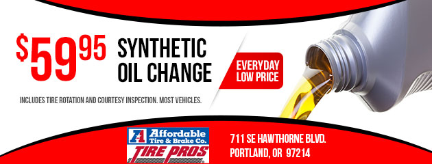 $59.95 Synthetic Oil Change Special