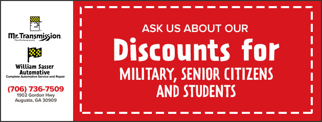 Military, Senior Citizen and Student Discounts