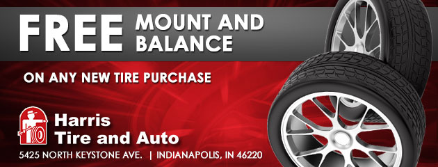 Free Mount and Balance on any new tire purchase