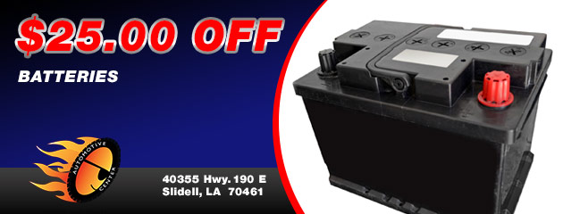 $25.00 Off Batteries