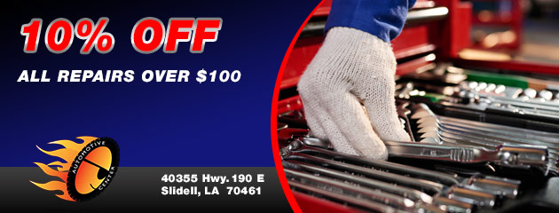 10% off all repairs over $100.00
