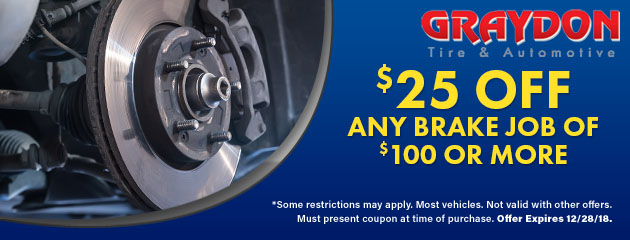 $25 Off Any Brake Job of $100 or more
