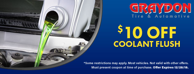 $10 Off Coolant Service Special